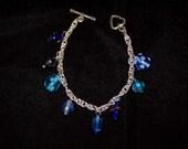 Liquidation SALE Blue & Truqoise Drop bracelet