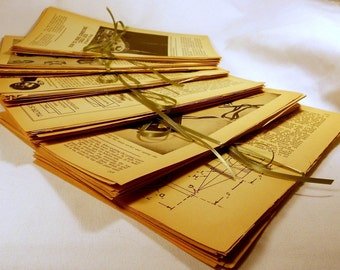 Vintage 1960s Book Pages Pack of 20 Sheets PM-6020Z