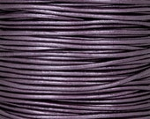Leather-1.5mm Round Cord-Metallic Berry-2 Meters