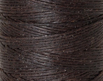 Tools & Supplies-4-Ply Irish Linen Cord-Waxed-Dark Chocolate-Quantity 100 Yards
