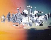 Overpainted Sunset Light Leak Lomo film Photograph