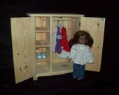 Handcrafted furniture for American Girl Doll - Armoire - raw