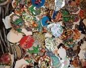 Lot of 50 Cardboard Disc Cutouts - POGs, Milk Caps, Tazos - jagged edges & interesting shapes