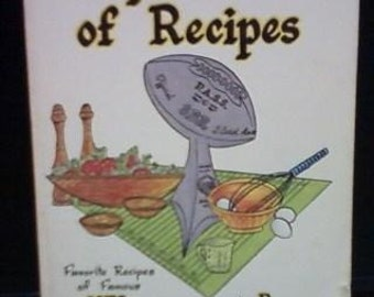 SUPER Bowl Souper Bowl of Recipes 1980 vintage collectible cookbook by NFL Stars perfect for Super Bowl parties