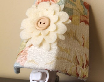 SALE!! Shabby Chic Floral - Waverly Home Decor Fabric - Night Light