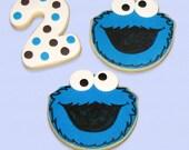 Cookie Monster Custom Cookies - Party Favors