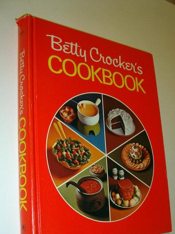 Hardcover Cookbook ~ Reduced betty crocker s cookbook hardcover vintage