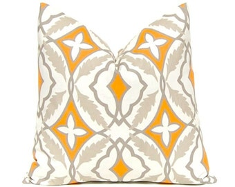 One Orange Pillow Cover - Throw Pillow Cover - Living Room Decor - Home Accents - Fall Pillows - Thanksgiving Decor - Sofa Pillows
