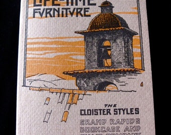 Arts and Crafts Life- Time Furniture Book 1981 Cloister Styles Grand Rapids Book case and Chair Company