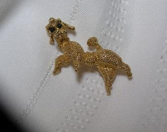 Panetta Gold tone Poodle Pin