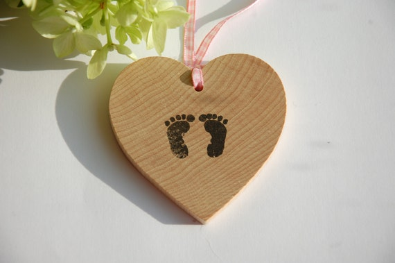 Personalised Baby Wooden Hearts