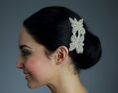 Rhinestone Applique on a Comb - Ready to ship in 1-3 days