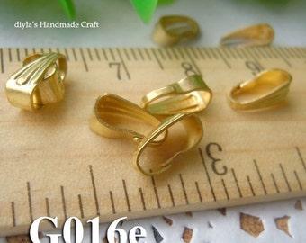 50Pcs 4x8.5mm Nickel Free  raw Brass Claws (G016e)