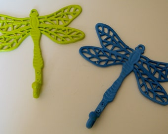 Upcycled Cast Iron Dragonfly Wall Hooks