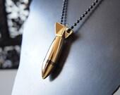 Gold Bomblet Pendant - Authentic Vietnam War Micro-Bomb