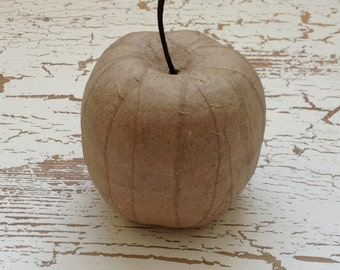 Paper Mache Ornament - Unfinished Paper Mache Apple - Christmas Ornament - Craft Supplies