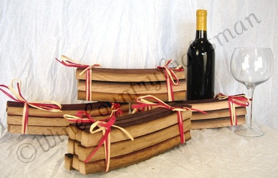 """SMOKY BBQ STAVE - """"Smoky Staves"""" - Wine Barrel Barbecue Staves -100% recycled"""