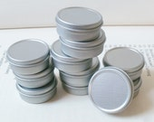 10ml small metal tins, blank round (set of 50) silver color