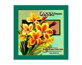 Small Journal - Canna Brand Citrus  - Fruit Crate Art Print Cover