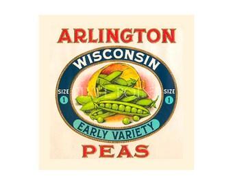 Garden Journal - Arlington Peas - Canned Goods Art Print Cover