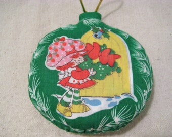 Vintage Strawberry Shortcake Wreath Door Christmas Ornament