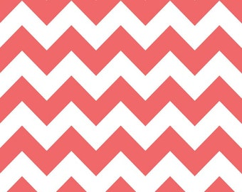 Riley Blake Fabric - 1 Yard of Medium Chevron in Rouge