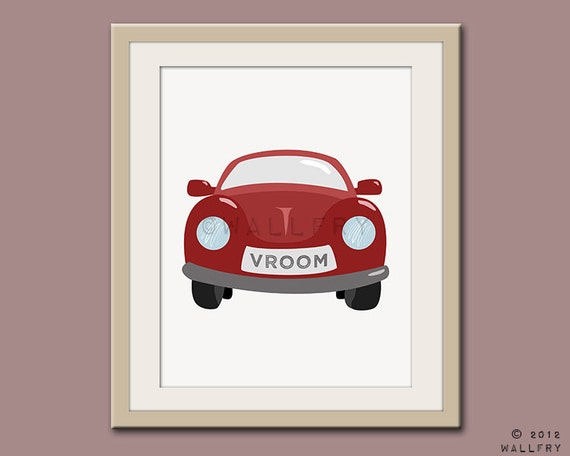 Nursery Wall Decor Transportation : Transportation prints car wall art for boys nursery decor