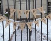 Happy Birthday banner  ..  Party Banner  ...  Adult Birthday