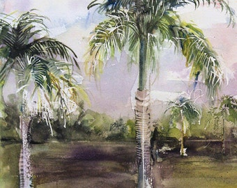 Florida Trip No.51, limited edition of 50 fine art giclee print from my original watercolor