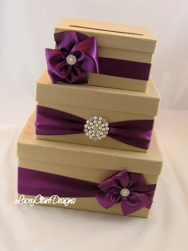Wedding Card Box Money Box Gift Card Box by LaceyClaireDesigns