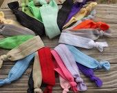 Elastic Hair Ties. Hair Bands. Elastic Hairbands. Womans hair ties. Set of 20 hairties. 10 hairties. Hairtie set.