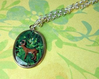Woodland Deer Necklace Pendant