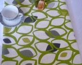 """Lime Green Long Table Runner Modern Designer Cotton (95"""")"""