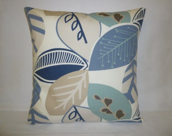 "Robins Blue Duck egg Blue Pillow Designer Cushion Cover Throw Scatter Pillow. ONE x 16"" (40cm)"