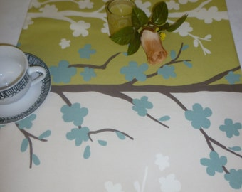 "Table Runner Retro Blue Green Brown Funky Modern Cotton Dresser/ Coffee/ Console Table(54"" 137cm)"