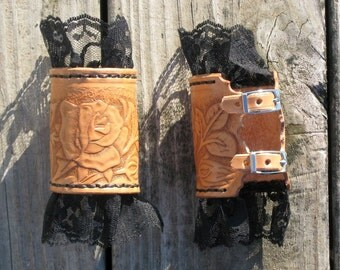 Leather and Lace Cuffs