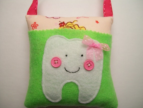 Girls Mermaid Tooth Fairy Pillow