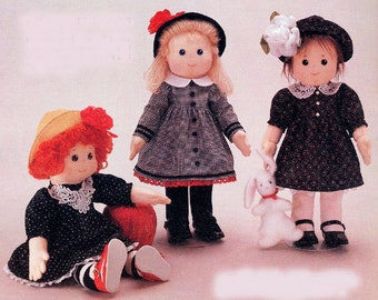 Apple Cheek Girls Easy to sew doll patterns from Carolee Creations SewSweet Dolls
