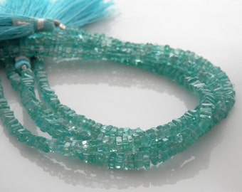 Apatite smooth polished square heishi beads 3-3.5mm 1/2 strand