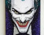 Joker -glitter art 9x12
