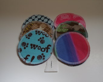 SALE ** Nursing Pads 6 Sets (12 total) Made With 4 Layers Of 100% Cotton Flannel