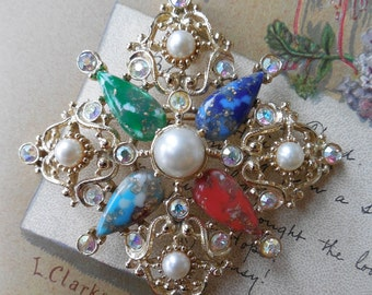 Sarah Coventry GALAXY Pendant / Brooch Large