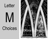 Letter M  -  Alphabet Photography  -  4x6 Photo Letter -  Unframed - Black and White or Sepia