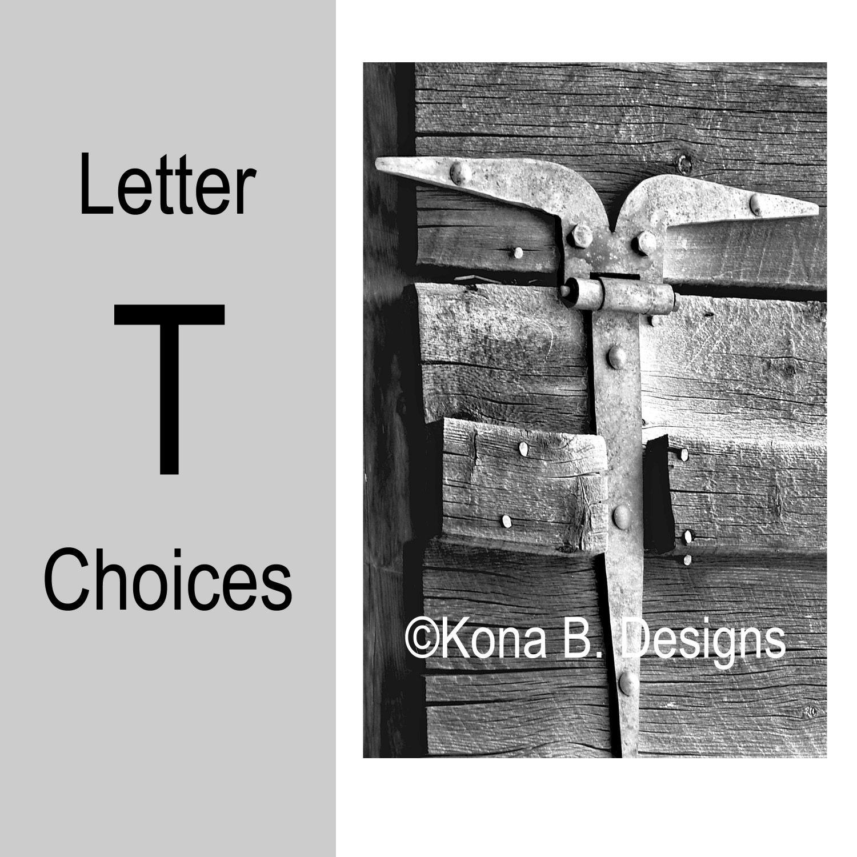Letter T Alphabet Photography 4x6 Photo Letter