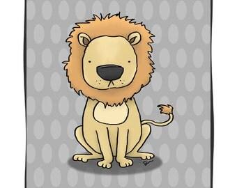 Lionley - 8 1/2 x 11 Nursery Print