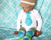 Baby Boy Fall Thanksgiving Tie Bodysuit.  Any Size and Tie.  Plaid, Holiday, Christmas, Boys Necktie,Wedding, 1st First Birthday Outfit