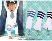Valentine's Day Baby Boy, NEW Football Striped Leg Warmers. Baby's 1st First Birthday, Trendy, Plaid, Coming Home Outfit