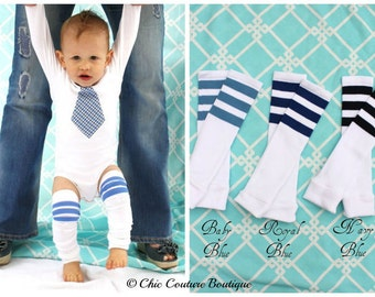 Baby Boy NEW Football Striped Leg Warmers. Baby's 1st First Birthday, Trendy, Plaid, Coming Home Outfit