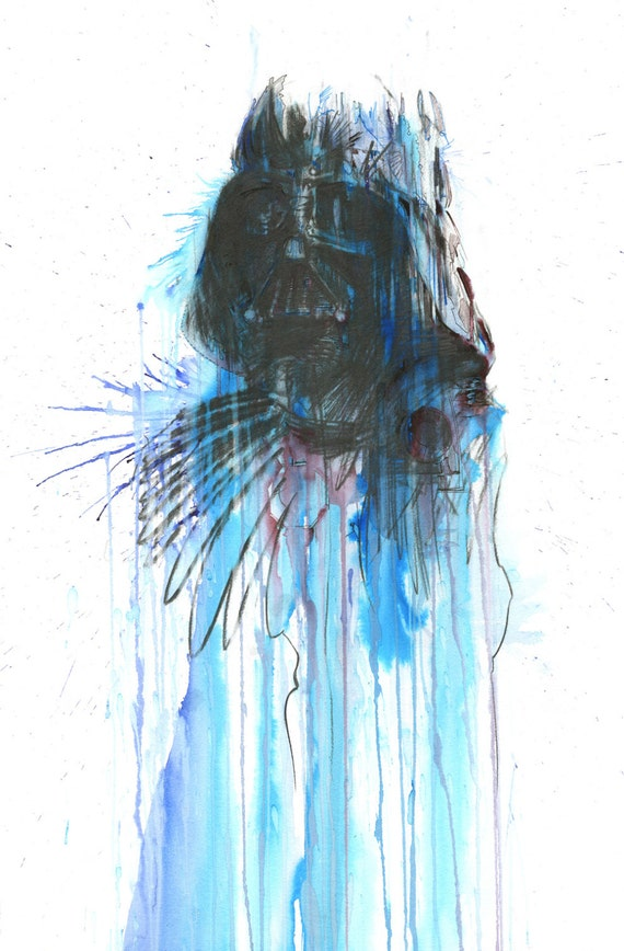 Star Wars Poster - 'Vader' signed edition, free delivery