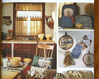 Simplicity 8437 Kitchen Accessories Home Decorating Sewing Pattern